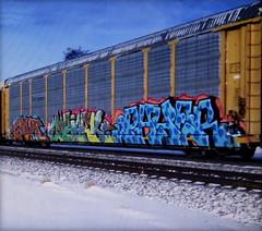 gier - mbark - payer (timetomakethepasta) Tags: gier amfm mbark d2f payer freight train graffiti art autorack ferromex e2e