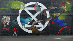 Disappearing Species (donbyatt) Tags: extinctionrebellion london climate planet candid people mural art janemutiny shoreditch