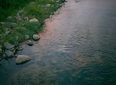 calm (Kenji Kitae) Tags: river sunset green water rock nature lifestyle lifework location landscape life tottori japan earth