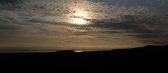 Light on the Bay (b-nik) Tags: light evening hills clouds sky water bay landscape silhouette fujifilm x100f