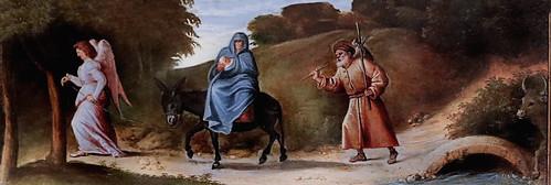 IMG_4428F Cariani (Giovanni Busi) 1485-1547 à Venise La fuite en Egypte The flight into Egypt  vers 1519 Bergamo Accademia Carrara