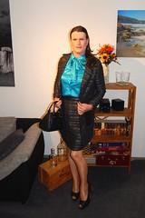 Autumn is awesome (Rikky_Satin) Tags: silk satin pussy bow blouse shiny skirt suit pantyhose nylons highheels pumps peeptoe handbag crossdressing crossdresser transvestite tgirl tgurl gurl