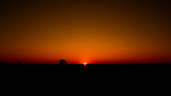Sunset (MomoFotografi) Tags: sun sunset landscape wideangle canada rural shadows olympus quebec 640 highway autoroute road