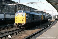26/09/1984 - Carlisle (Citadel), Cumbria. (53A Models) Tags: britishrail brush type2 class31 31426 31446 diesel passenger carlise cumbria train railway locomotive railroad