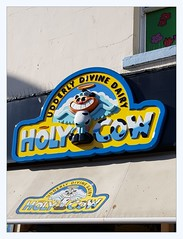 Holy Cow (overthemoon) Tags: uk northyorkshire england scarborough southbeach holycow icecream lettering