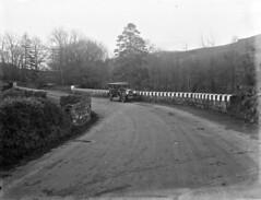 A Bridge too far... (National Library of Ireland on The Commons) Tags: ahpoole arthurhenripoole poolecollection glassnegative nationallibraryofireland bridge parapet markings car road carrick buick yf2433