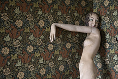 cornered (james_drury) Tags: urbex urbanexploration mannequin dummy canonef2470mmf28liiusm abandoned wallpaper floral female 1930s