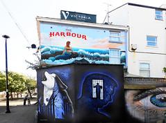 REAR OF HARBOUR PUB (tommypatto : ~ IMAGINE.) Tags: murals artworks art newbrighton merseyside streetart