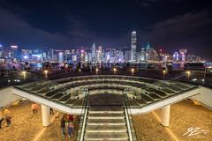 Stairway to the Crowds (TVZ Photography) Tags: kowloonpublicpier kowloon tsimshatsui hongkong skyline cityscape city stairs night evening lowlight longexposure sonya7riii sony 1635mm sel1635gm