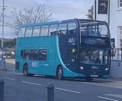 Arriva North East 7555 SN15 LLF (10/10/2019) (CYule Buses) Tags: servicex18 arrivamax arrivabus arrivanortheast enviro400 alexanderdennis alexanderdennisenviro400 sn15llf 7555