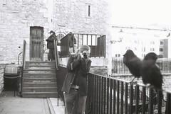 Taking A Shot (goodfella2459) Tags: nikonf4 afnikkor50mmf14dlens ilfordpanfplus50 35mm blackandwhite film analog portrait friend london history toweroflondon bwfp