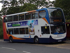 Stagecoach ADL Enviro 400 (ADL Trident) 19085 MX56 FUD (Alex S. Transport Photography) Tags: bus outdoor road vehicle stagecoach stagecoachmidlandred stagecoachmidlands adlenviro400 enviro400 e400 adltrident route1 19085 mx56fud