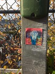 The Scream (svennevenn) Tags: thescream skrik munch pasteups gatekunst streetart bergen