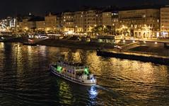 Night Danube, Budapest / Ночной Дунай, Будапешт (dmilokt) Tags: город пейзаж ночь река венгрия корабль ship мост bridge city landscape night river hungary dmilokt