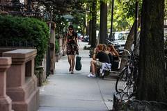 walking and talking (Nun Nicer Artist) Tags: walking newyork hellskitchen manhattan travel streetphotography 35mm 35mmstreetphotography city nunnicer people