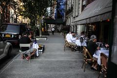 Dinner in Manhattan (Nun Nicer Artist) Tags: restaurant manhattan newyork city nunnicer streetphotography 35mm 35mmstreetphotography travel