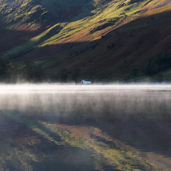 Buttermere morning mist 5 (Alf Branch) Tags: buttermere landscape lakes lakedistrict lake lakesdistrict refelections reflection westcumbria water calmwater cumbria cumbrialakedistrict olympus olympusomdem1 omd zuiko40150mmf28pro