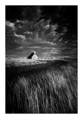 St Thomas à Becket Church / October 6th (Edd Allen) Tags: farm farmland country countryside bw blackandwhite reeds uk england eastsussex southeast nikond610 nikon d610 zeissdistagon18mm zeiss distagon 18mm sunset infrared romneymarsh fairfield church architecture wind