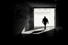 Shard of light (Daz Smith) Tags: dazsmith fujifilmxt3 xt3 fuji bath city streetphotography people candid portrait citylife thecity urban streets uk monochrome blancoynegro blackandwhite mono man silhouette light