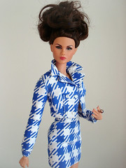 Checking In Colette (Deejay Bafaroy) Tags: fashion royalty integrity toys doll puppe colette barbie portrait porträt blue blau white weiss checkingin