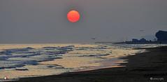 E VENNE IL GIORNO ! (Salvatore Lo Faro) Tags: mare onde risacca cielo sole rosso alba gabbiani rodi puglia italia riflessi spiaggia sabbia salvatore lofaro nikon 7500