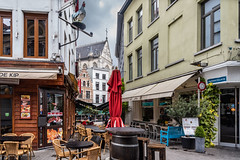 Antwerp - Empty Outdoor Cafe (urika2md) Tags: antwerp vacation2017 vikingrivercruise