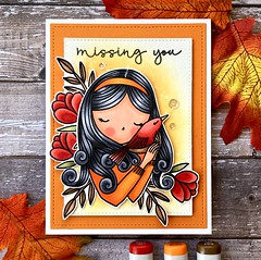 Missing You (The Queen's Scene) Tags: card cardmaking stamping papercrafting handmadecard waffleflowercrafts copicmarkers
