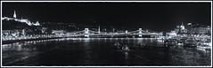 Budapest at night / Ночной Будапешт (dmilokt) Tags: чб bw черный белый black white dmilokt город пейзаж ночь река венгрия корабль ship мост bridge city landscape night river hungary