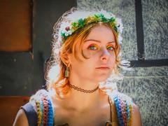 Highlight (clarkcg photography) Tags: candid woman renaissance color portrait castleofmuskogee eyes light backlight