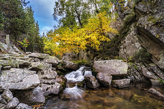 Madriu Valley, Pyrenees, Andorra (StarCitizen) Tags: pyrenees mountains sky autumn andorra landscape scenery scenic foliage water clouds river stream waterfall