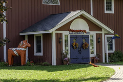 Gammelgarden Museum in Scandia, Minnesota (Lorie Shaull) Tags: dalahorse scandia minnesota gammelgarden museumdalecarlian horse