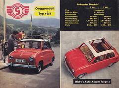 Mickys Auto-Album / 2 (micky the pixel) Tags: sammelbilder tradingcards mickymaus ehapaverlag auto car goggomobil limousine logo