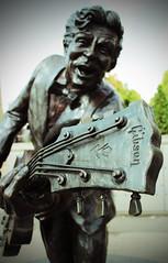 Chuck Berry Up Close (big_jeff_leo) Tags: music guitar legend icon iconic stlouis gibson statue stone streetart art artistic rock