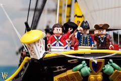 Three Cheers! (Dread Pirate Wesley) Tags: lego moc ship shipoftheline sailing naval royalnavy nelson british french napoleon sea battle