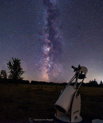 Milky Way Panoramic Stack, Center France (AlZinki) Tags: astronomie astronomy astrophographie astrophotography nightscape sonynex sky samyang stars telescope dobson ciel panorama