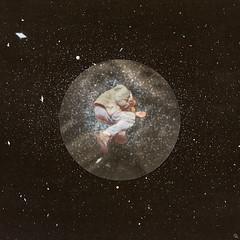 bhis (woodcum) Tags: digital retro plastic sleep space man stars cosmos cosmic sticker retrocollage circle surrealism surrealcollage contemporaryart woodcum dream dark