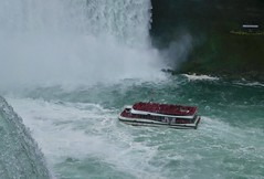 Red and Rapids (remiklitsch) Tags: autumn fall remiklitsch canada usa ontario newyork falls river boat tourists hornblower niagarafalls rapids red