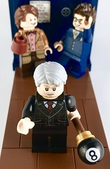 SOOS! MABEL! HAVE YOU TWO BEEN PLAYING WITH MY FEZ AND GLASSES AGAIN?! (theoctopirate_customs) Tags: lego gravity falls grunkle stan doctor who matt smith david tennant purist minifigure
