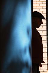 Behind the blue (Guido Klumpe) Tags: candid street streetphotographer streetphotography strase hannover hanover germany deutschland city stadt streetphotographde unposed streetshot gebäude architecture architektur building perspektive perspective color farbe kontrast contrast gegenlicht shadow schatten silhouette mann men gentleman minimal minimalism minimalistisch simple reduced blue