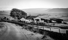Harwood . (wayman2011) Tags: 7artisans55mmf14lightroom5 colinhart fujifilmxe2s wayman2011 bwlandscapes mono rural farms doris pennines dales teesdale harwood countydurham uk