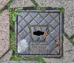 Needham Stop Tap Cover, Thomas Street, Holyhead, Anglesey 7 October 2019 (Cold War Warrior) Tags: needham stockport holyhead anglesey stoptap accesscover