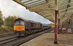 Hellifield Railhead Treatment Train (garstangpost.t21) Tags: hellifield railheadtreatmenttrain rhtt 3j11 carlislekingmooryard class66 drs directrailservices yorkshire