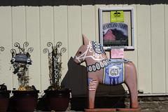 Dala Horse at Scandia Market & Mercantile in Scandia, Minnesota (Lorie Shaull) Tags: dalahorse scandia minnesota dalecarlianhorse