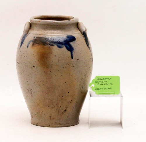 Rockbridge County, VA attributed cobalt decorated ovoid jar ($336.00)