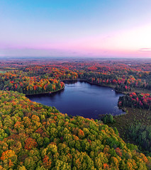 Timms Lake (Daniel000000) Tags: fall autumn color colors lake water sky morning sunrise art new old blue green red pink tree trees forest nature landscape dji mavic 2 pro explore
