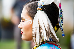 Native American Day (Alice_McCAnn) Tags: nativeamerican native woman lady feathers regalia portrait dancer oklahoma tulsaoklahoma tulsa colors culture dance emotions nativeamericanday nativeamericandancer