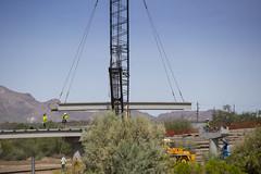 190807_Rillito bridge installation_04 (PimaCounty) Tags: theloop bridgeconstruction bridgebuilding floodcontrol d3 elcorazontheloopbridgeconstructionbridgebuildingfloodcontrold3
