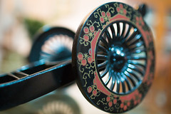 spokes (Rajiv Lather) Tags: spokes wheels bokeh reflection color image photograph highlights light glow focus dof spiral swirling depthoffield blues still blurred