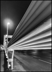 Erzhebet Bridge, Budapest / Мост Эржебет, Будапешт (dmilokt) Tags: bw black черный белый чб city bridge white night river hungary ночь город река мост венгрия dmilokt