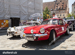 red Triumph GT6 (F Csaba) Tags: bavaria beautiful black color coupe curves display editorial europe expo exposition germany giovanni grey gt6 historic lights lines medieval michelotti nurnberg